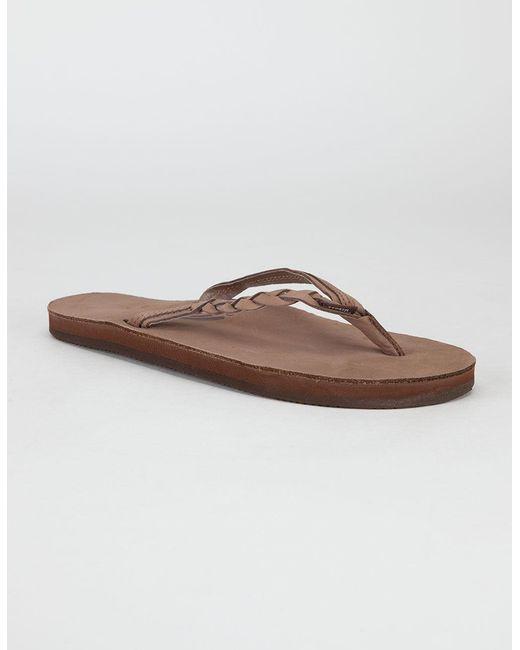 9dba4f9e8046 Rainbow Sandals - Brown Flirty Braidy Womens Sandals - Lyst ...
