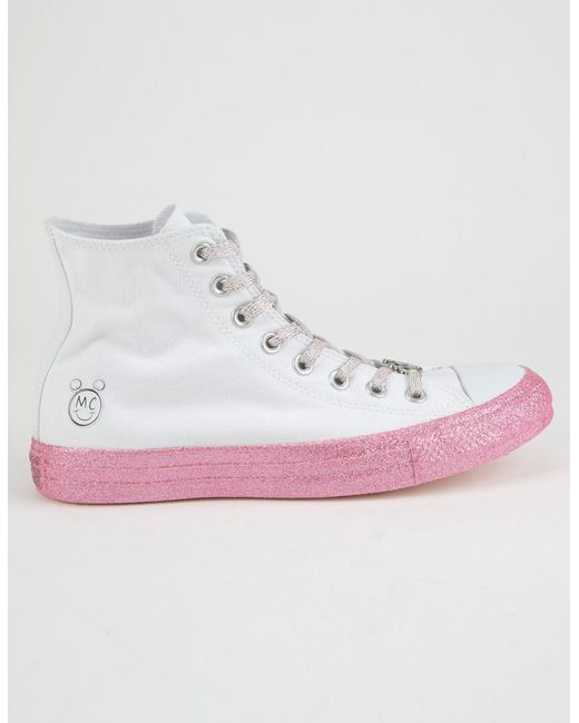Converse - X Miley Chuck Taylor All Star White High Top Shoes - Lyst