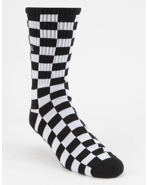 5309f95563e8e1 Lyst - Vans Checkerboard 1 Pack Socks In Black Vn0a3h3ohu01 in Black ...