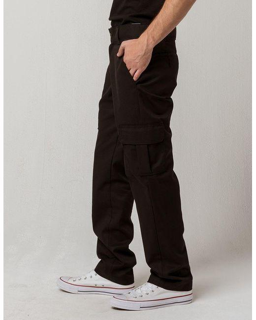 6fada784dd0 Flex Slim Fit Straight Leg Black Mens Cargo Pants
