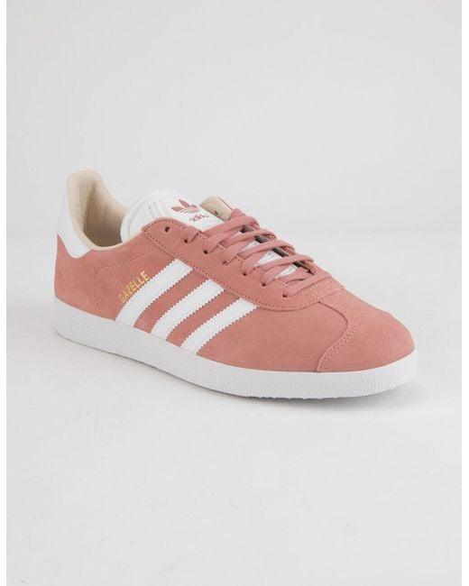 adidas gazelle rose et blanche