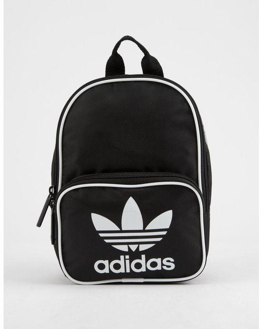 932f07d635 Lyst - adidas Originals Santiago Black Mini Backpack in Black