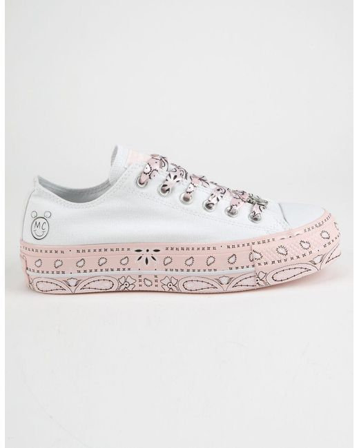 Converse - X Miley Chuck Taylor All Star Lift White Low Top Shoes - Lyst