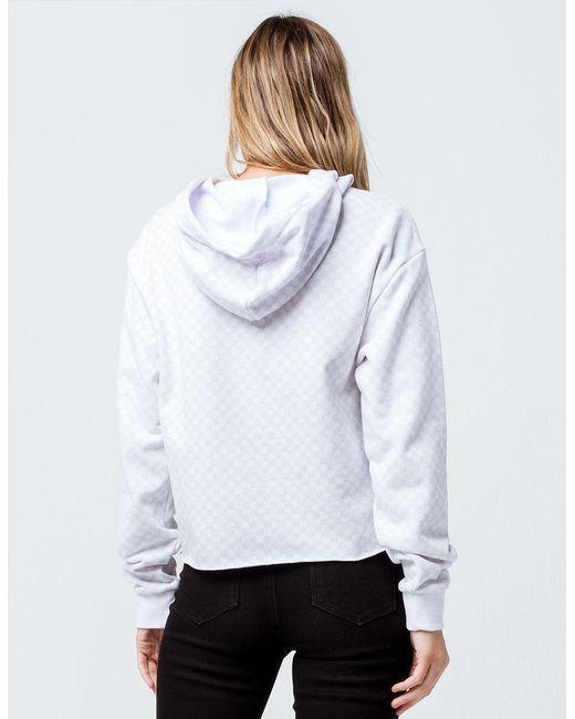 27d81bc010b788 ... Lyst Vans - Leila Check Hoodie (white Checkerboard) Women s Clothing ...