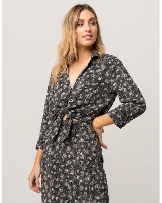 Amuse Society - Black Let's Get Knotty Womens Top - Lyst