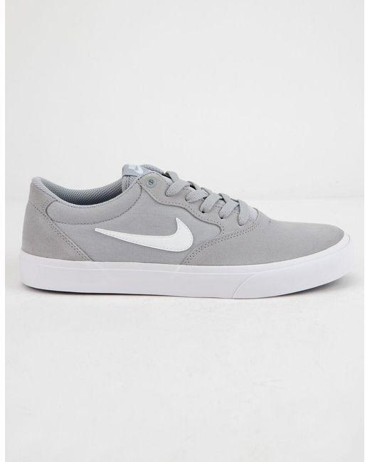 4ae53c66225 Nike Chron Slr Wolf Gray   White Shoes in White for Men - Lyst