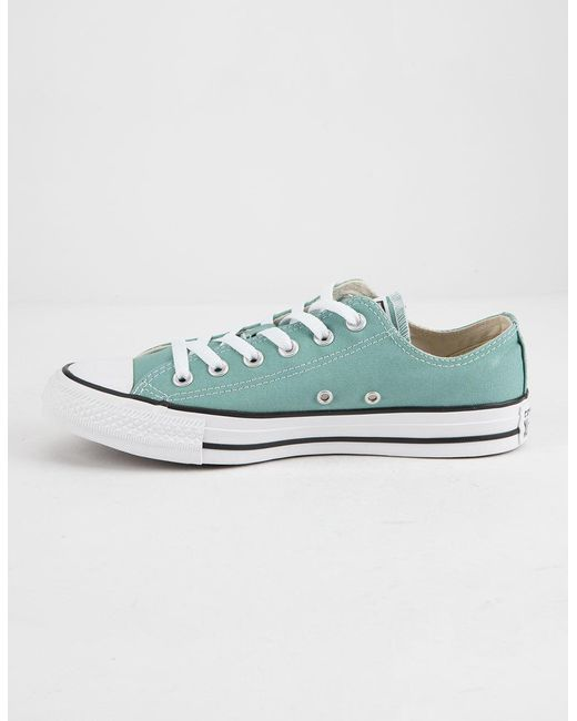 ... Converse - Blue Chuck Taylor All Star Mineral Teal Low Top Womens Shoes  - Lyst ... 8bec49c10