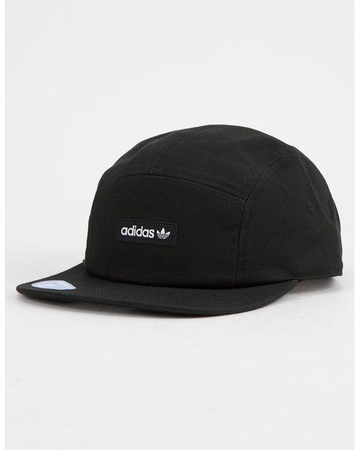 10f55799 Adidas - Black Originals Five-panel Forum Mens Strapback Hat for Men - Lyst  ...