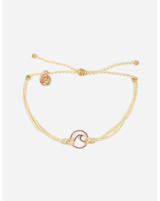 Pura Vida - Metallic Wave Cream & Rose Gold Bracelet - Lyst