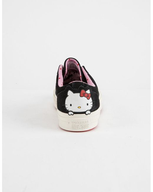35659da3a0036e ... Converse - X Hello Kitty One Star Black   Prism Pink Womens Shoes ...