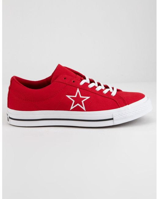 992e82e3c820 Lyst - Converse One Star Ox Enamel Red   White Low Top Shoes in Red