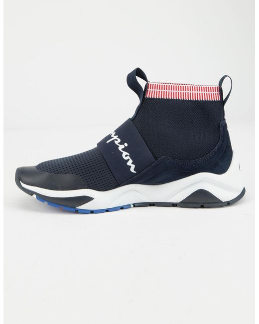 9eca38bff Lyst - Champion Navy Rally Pro Sock Sneakers in Blue for Men - Save 21%