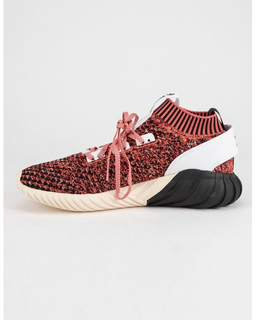 big sale fb7f1 4134c ... Adidas - Red Tubular Doom Sock Primeknit Burgundy Mens Shoes for Men -  Lyst ...