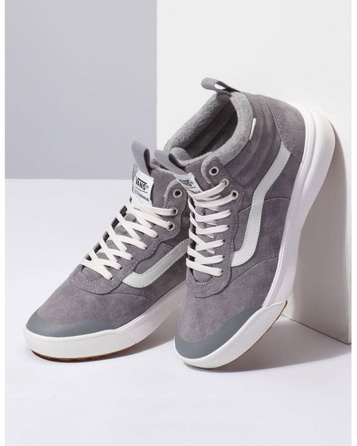 ... Vans - Ultrarange Hi Mte Gray Womens Shoes - Lyst ... 96fd8d9ff