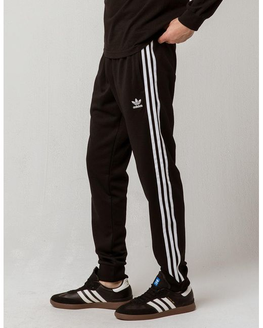 Adidas Synthetic Originals Side Stripe Mens Track Pants In
