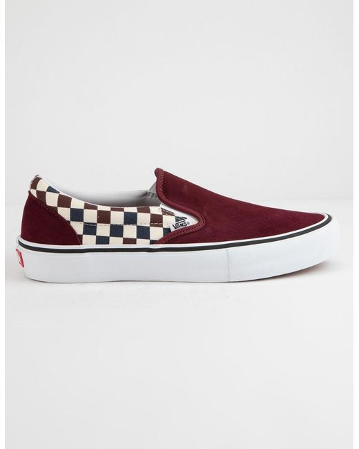 92db281a93c8 Vans - Red Checkerboard Slip-on Pro Port Royal Royal Shoes - Lyst ...