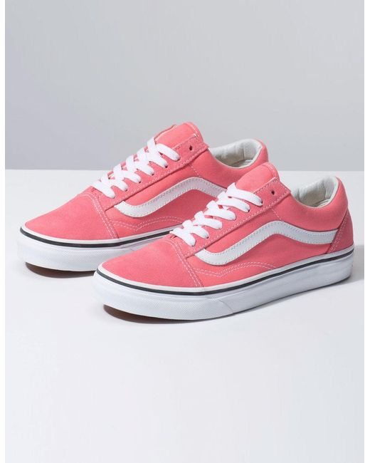 f3abc5bb89 ... Lyst Vans - Old Skool Strawberry Pink   True White Womens Shoes ...