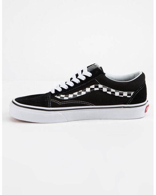 Vans Suede Checker Floral Old Skool Womens Shoes in Black Lyst