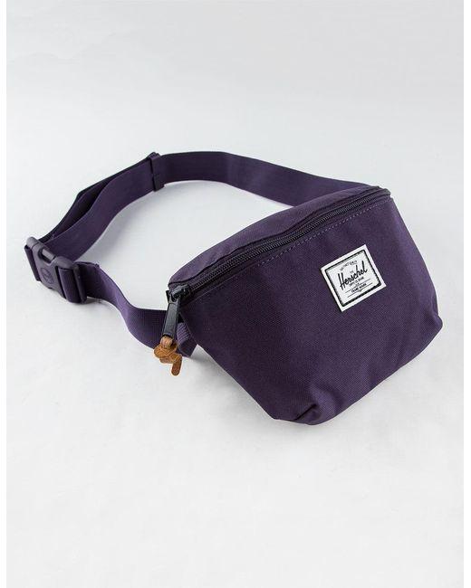 f66bacfbd5f Lyst - Herschel Supply Co. Fourteen Purple Velvet Fanny Pack in Purple