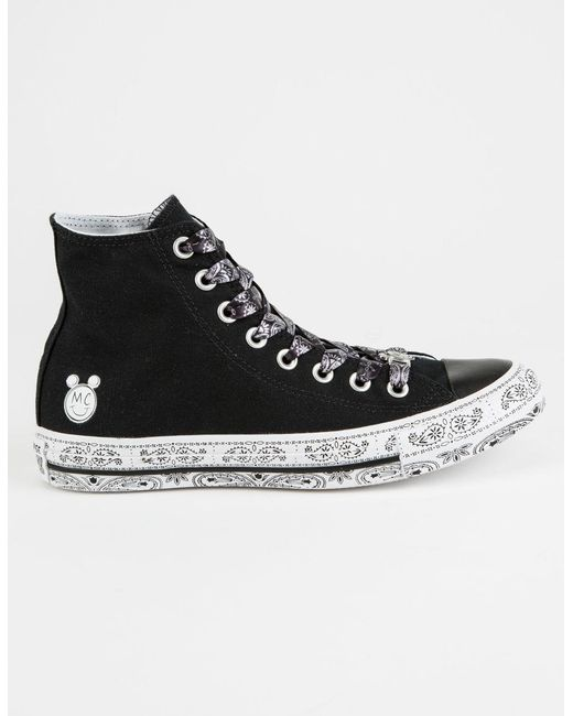 Converse - Black X Miley Chuck Taylor All Star High Top Shoes - Lyst
