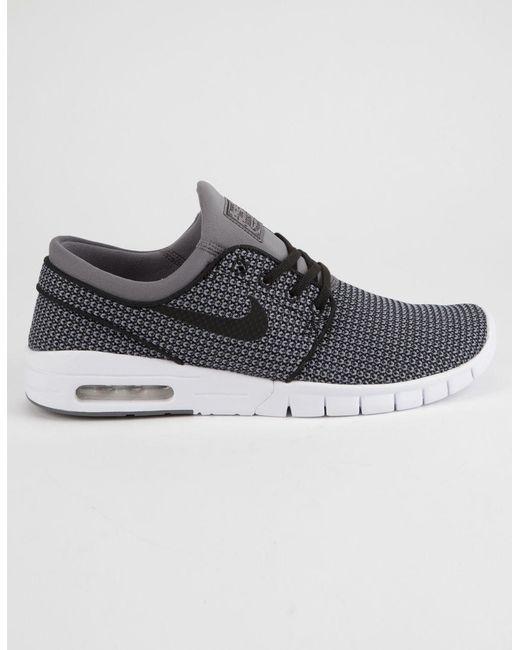 reputable site 3cdc5 70a6a Nike - Gray Stefan Janoski Max Gunsmoke White   Black Shoes for Men ...