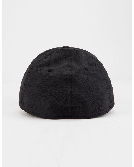 a53dd15e8e0 Lyst - Billabong Surftrek Black Mens Flexfit Hat in Black for Men