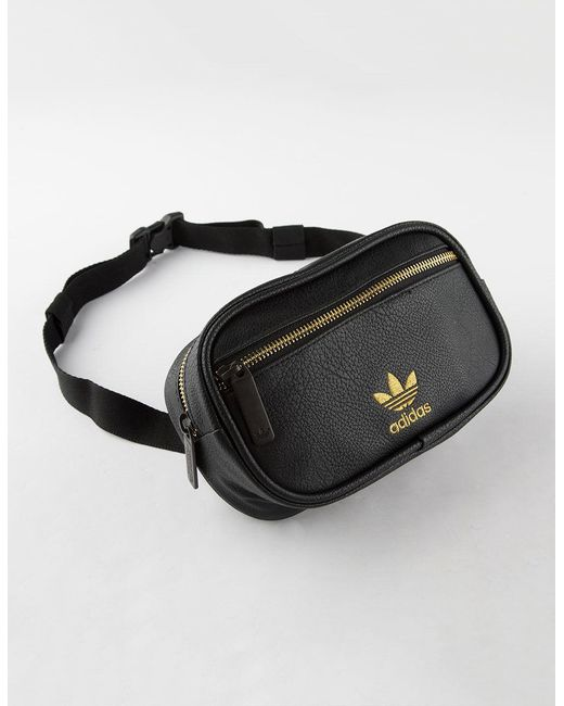 075a3be7f204 Adidas - Black Originals Pebbled Faux Leather Fanny Pack - Lyst ...