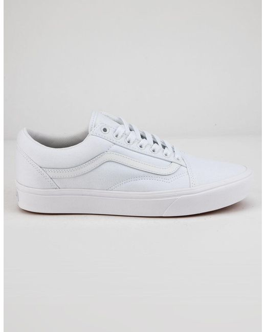 3aaaed1efa Lyst - Vans Comfycush Old Skool True White Shoes in White