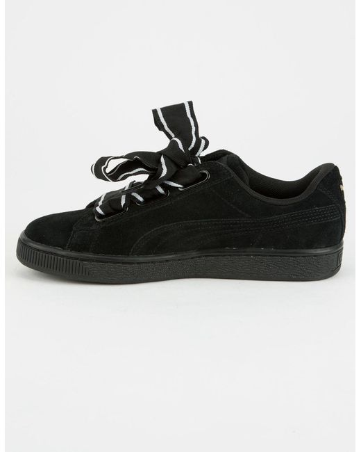 on sale 98604 29730 Black Suede Heart Satin Womens Shoes