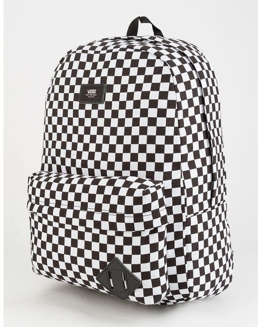 6caef80e11 Vans Old Skool Ii Black & White Checkerboard Backpack in Black ...