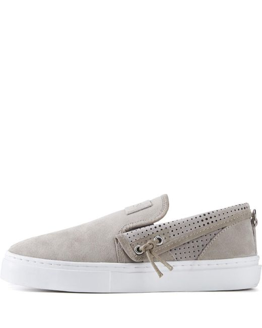 Clear Weather Gray Lakota In Goat Slip-on Sneakers for men