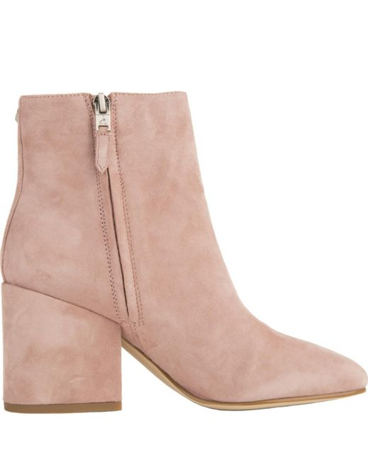 Sam Edelman Leather Taye Mauve Heeled Booties In Pink Lyst
