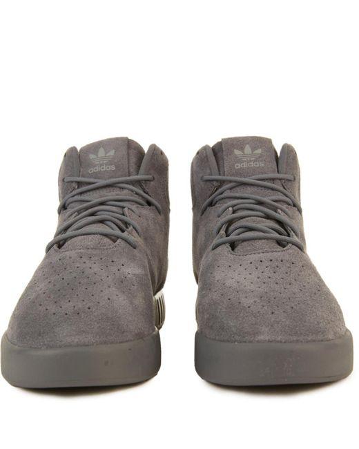 ... Adidas - Multicolor Tubular Invader Onix onix black Sneakers for Men -  Lyst ... 39beec5f5