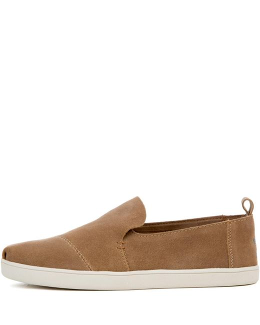 Toms Deconstructed Cupsole Alpargata Toffee Suede Flat In