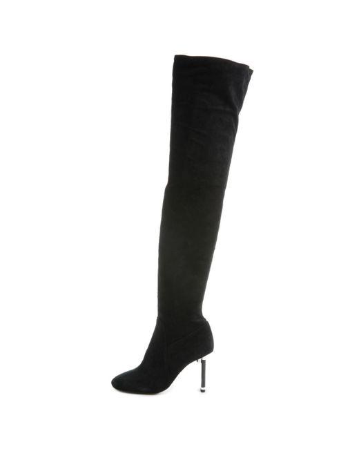 Jeffrey Campbell Black Peligro-ok Thigh-high Heeled Boots