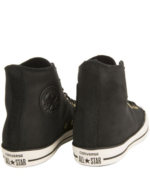 ffc6f8727615 ... Converse - Chuck Taylor All Star Crafted Black Suede High Tops for Men  - Lyst ...