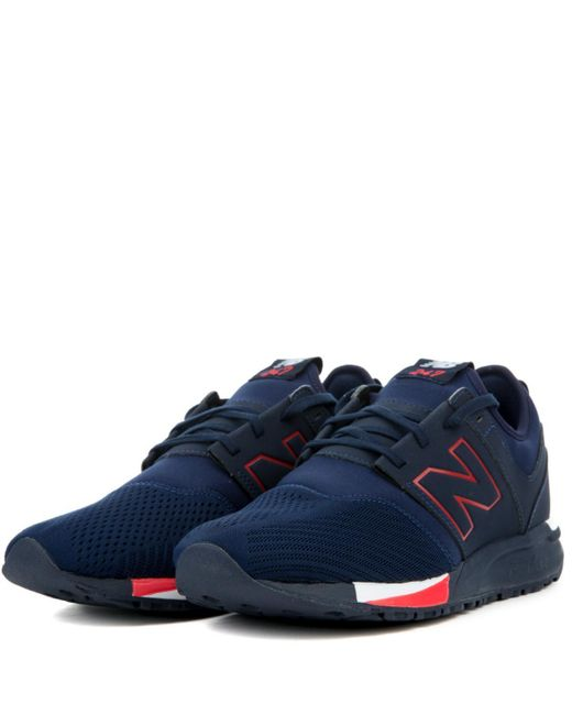 bc180db4f9f10 ... New Balance - Blue Mens Navy   Red 247 Classic Trainers for Men - Lyst  ...