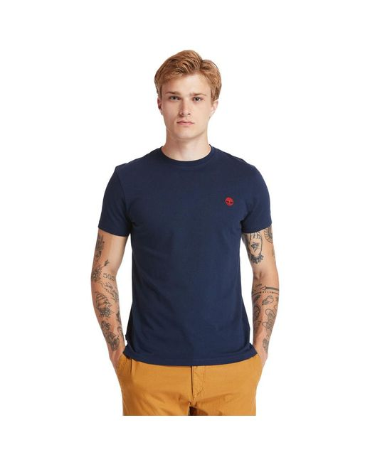T-shirt Girocollo Dunstan River di Timberland in Blue da Uomo