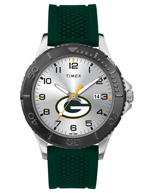 Timex Metallic Watch Gamer Green Bay Packers Silver-tone/green/silver-tone for men