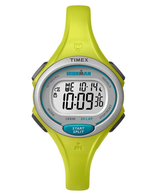 Timex Watch Ironman Essential 30 Mid-size Resin Strap Yellow/
