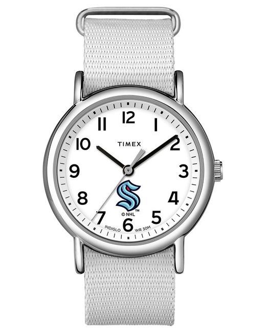 Timex Metallic Watch Weekender Seattle Kraken Silver-tone/white