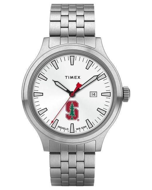 Timex Metallic Watch Top Brass Stanford Cardinal Stainless Steel/white for men