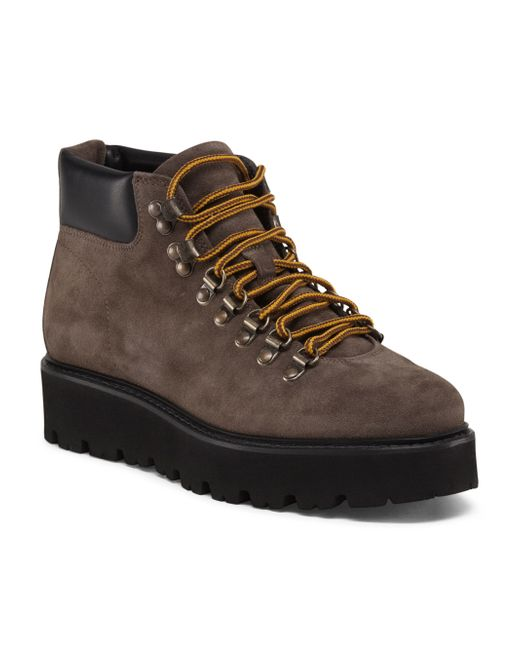 Tj Maxx Made In Italy Suede Hiking Boot In Brown For Men