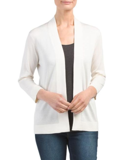 Tj Maxx   White Silk Cashmere Blend Open Cardigan   Lyst