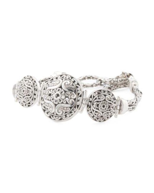 Tj Maxx | Metallic Made In Bali Sterling Silver Filigree Ball Bracelet | Lyst