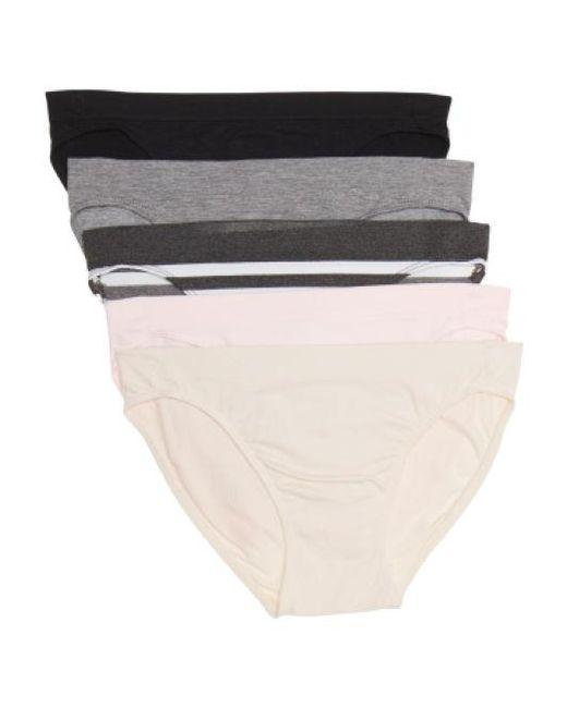 9acd92ae1623b Lyst - Tj Maxx 5pk Seamless Bikini Panties in Gray