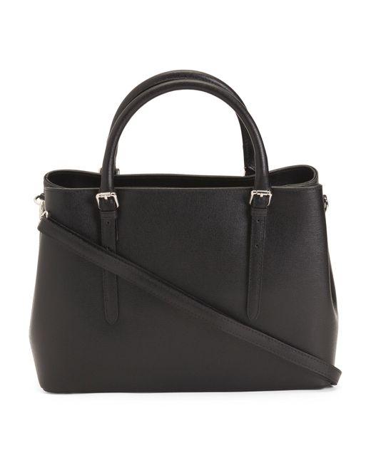 Tj Maxx Black Made In Italy Saffiano Leather Tote