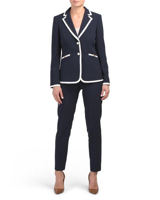 Tj Maxx Blue Contrast Jacket And Pants Set