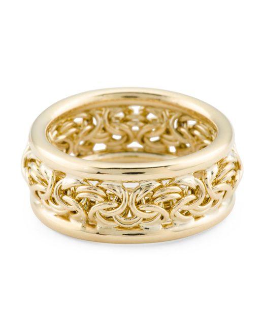Women's Metallic Made In Peru 14k Gold Byzantine Band Ring