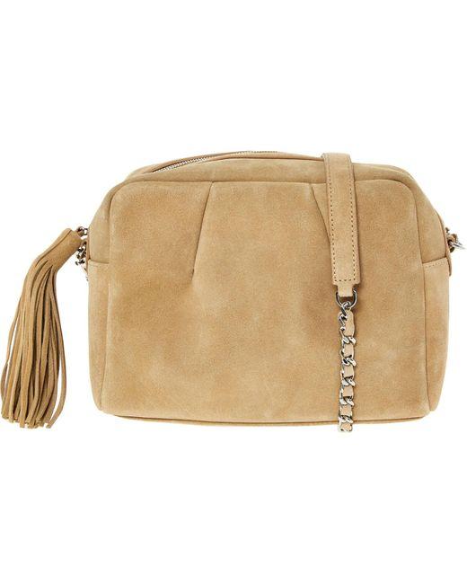 TK Maxx brand Natural Suede Cross Body Bag